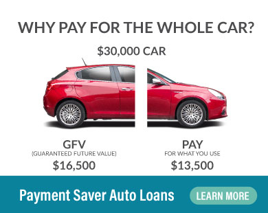 Why pay for the whole car? Payment Saver Auto Loans