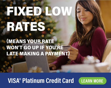 VISA Platinum Credit Card Fixed Low Rates