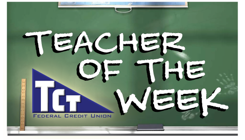Teacher of the Week chalkboard logo